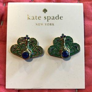 """🦚 NWT Kate Spade Peacock """"Strut It"""" Earrings🦚"""